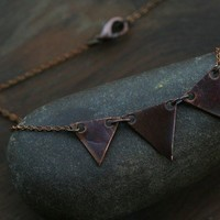 copper banner necklace by littlepapercrane on Etsy