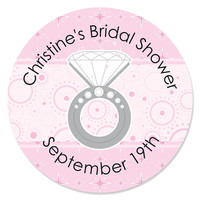 With This Ring - Personalized Bridal Shower Sticker Labels - 24 ct