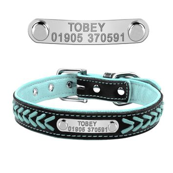 Braided Personalized Engraved Dog Collar