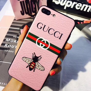 GUCCI Little bee apple 7plus mobile shell iPhone6S