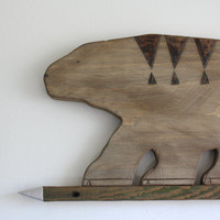 Tribal Polar Bear Wall Art by rigandtwig on Etsy