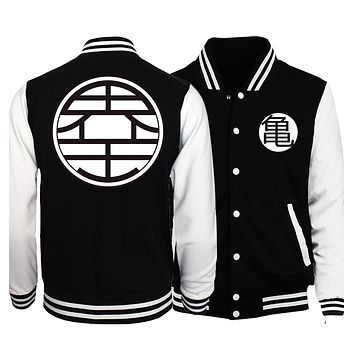 Dragon Ball Z Jacket Men Japan Anime Harajuku Baseball Uniform 2018 Spring Super Saiyan Coat Master Roshi Vegeta Jackets Homme