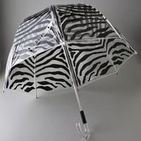 Felix Rey Clear Bubble Zebra Umbrella