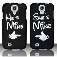 CUTE COUPLE HARD PLASTIC MATTE SNAP ON CASE COVER FOR SAMSUNG GALAXY S4 I9500 [In Casesity Retail Packaging]