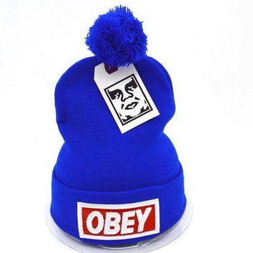 Obey Women Men Embroidery Beanies Knit Wool Hat Cap-5