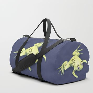 Funny Frog With Fancy Eyelashes Digital Art Duffle Bag by borianagiormova