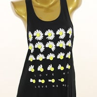 GIVE ME DAISY FLOWERS TANK TOP