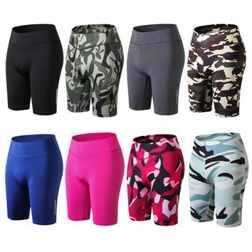 Women Compression Yoga Fit Tight Night Reflective High Waist Elastic Short Women Tight Bottom Slim shorts shipping from usa