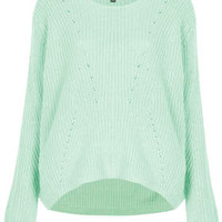 KNITTED CLEAN RIB JUMPER