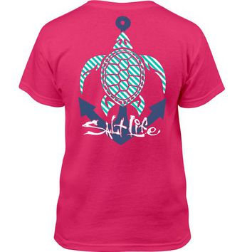 Salt Life Kids' Anchor Turtle T-shirt
