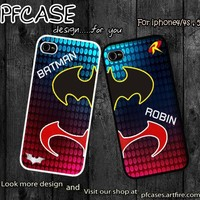 Batman and Robin Hero at the night :Case For Iphone 4,5/Samsung S2,3,4