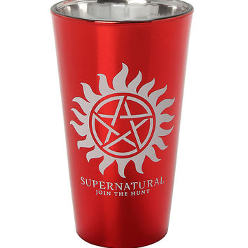 Supernatural No Demons Down The Hatch Pint Glass