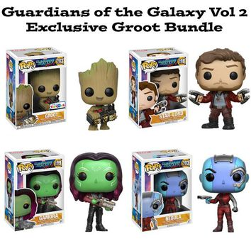 Exclusive Groot Guardians of the Galaxy Funko Pop! Marvel Bundle