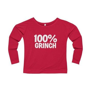 ESBON9R 100% Grinch Christmas Long Sleeve T-Shirt