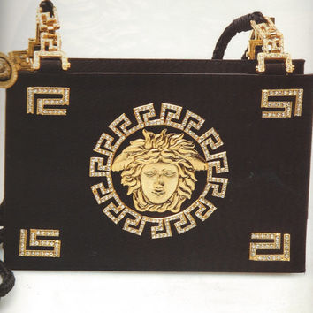 Vintage GIANNI VERSACE Couture MEDUSA Purse