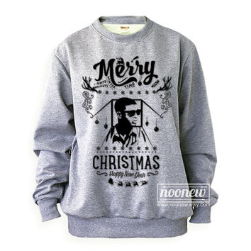 1-800 Hotline Bling Ugly Christmas Sweater Sweatshirt Drake XMAS Grey And White Sweatshirt Long Sleeve – Size S M L XL