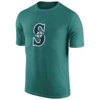MLB  Seattle Mariners Collection Legend Logo 1.5 Performance T-Shirt Green Short Sleeve MLB Baseball T-Shirts