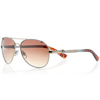 River Island Womens White aviator sunglasses