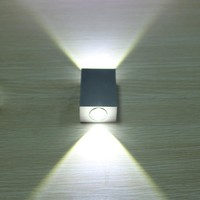 Modern 2W 6W led wall light AC85-265V high quality restroom bedroom reading wall lamp decoration light