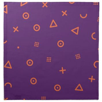 Happy Particles Purple Cloth Napkin