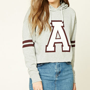 A Graphic Raw-Cut Hoodie