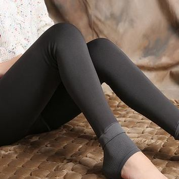 Women's Autumn And Winter High Waist Skin Color Incarcerators Legging