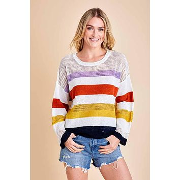 Fate Multi Stripe Summer Sweater