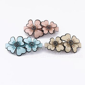Elegance  Hair Accessories Acetate sheets  Hair Clips For Women Flower Hairpins Rim Hair Bows