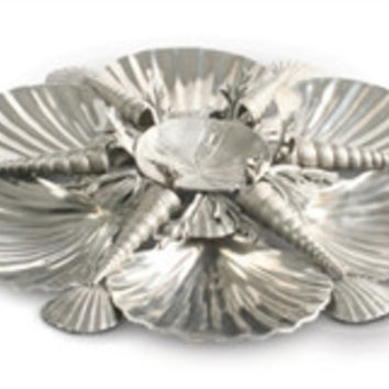 Pewter Marine Life Serving Tray