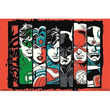 JUSTICE LEAGUE POSTER Amazing collage RARE HOT NEW 22x34