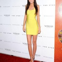 Kendall Jenner Yellow Bandage Dress H290