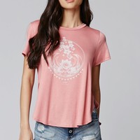 Lira Lotus T-Shirt - Womens Tee - Blue