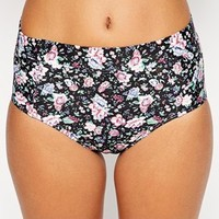 All About Eve Exclusive to ASOS Floral High Waist Bikini Bottom