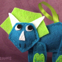 squshies | Felt Dinosaur Ornament -Terence the Triceratops  | Online Store Powered by Storenvy