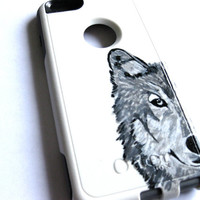 iphone 5c Otterbox case,cute glitter otterbox case ,  iphone 5c case, iphone 5c case,Iphone 5c cover,wolf iphone 5c commuter series