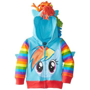 My Little Pony - Rainbow Dash Head Girls Juvy Costume Zip Hoodie