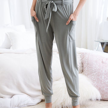 Aerie Real Soft® Cargo Jogger, Stone Gray