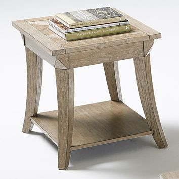 Appeal L Transitional Rectangular End Table Dark Poplar