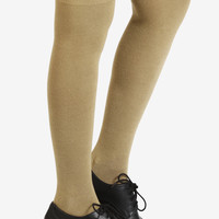 Knitted Thigh Highs - Taupe