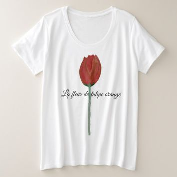 La fleur de tulipe orange Plus Size Woman TShirt