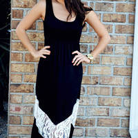 Damsel In Distress Maxi Dress: Black | Hope's