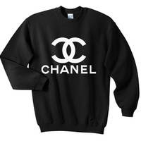 Chanel Sweatshirt CrewNeck in Black for Adults