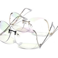 Retro Vintage Clear Glasses