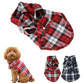 Flannel Print Dog Jacket