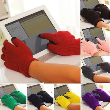 Men women touch screen upgrade water more winter warm soft cotton  knitting gloves  Smart For All phones Several Colors  ST001