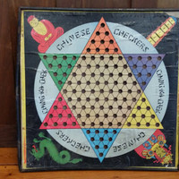Vintage Chinese Checkers Game Board Gotham Pressed Steel Corp 1938 Great Decor Upcycle Repurpose Altered Art