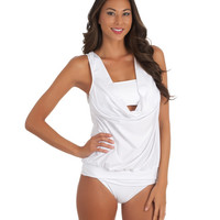 White Tankini Swimsuit | Premiere Tankini & Bottom | 2014 LUXE
