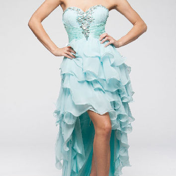 KC14603 Prom Dress Chiffon High Low by Kari Chang Couture