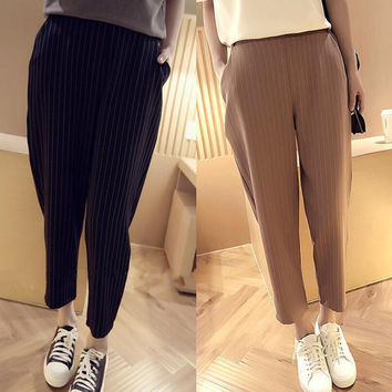 Womens Straps Loose Pants Summer Gift 75