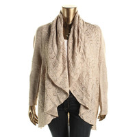 Karen Scott Womens Plus Knit Marled Cardigan Sweater